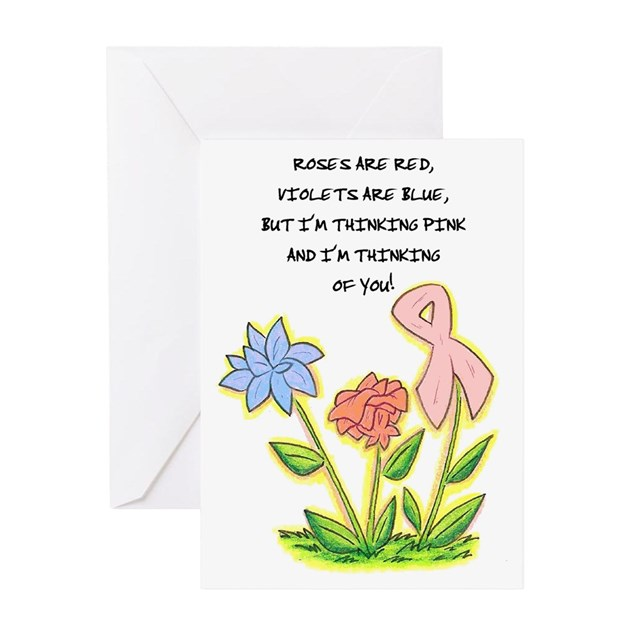 THINKING OF YOU CANCER AWARENESS Greeting Card By Crabbycards