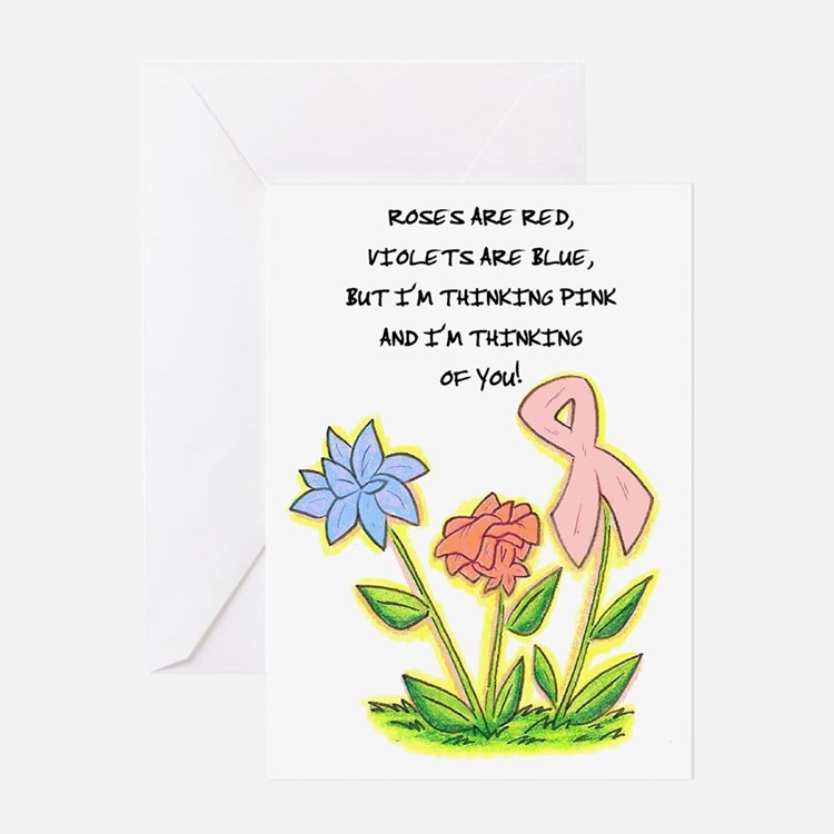 THINKING OF YOU CANCER AWARENESS Greeting Card