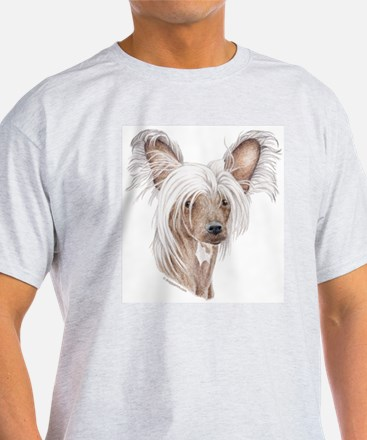Chinese crested dog Ash Grey T-Shirt
