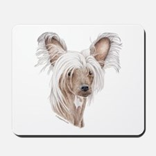 Chinese crested dog Mousepad