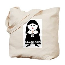 Saucy Nun Tote Bag