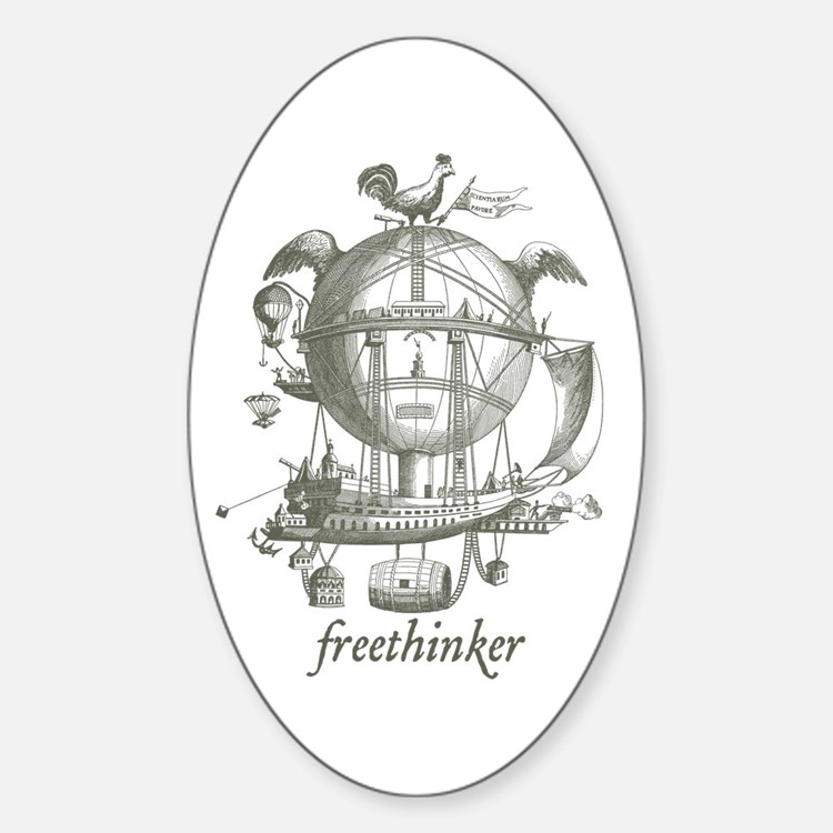 Freethinker Oval Decal