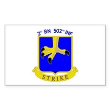 2nd BN 502nd INF Rectangle Decal