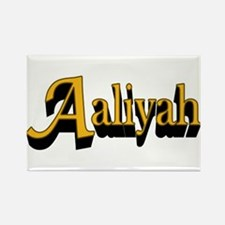 Aaliyah Name Rectangle Magnet (10 pack)