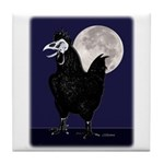Rooster Ghost Tile Coaster