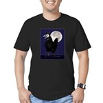 Rooster Ghost Men's Fitted T-Shirt (dark)