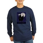Rooster Ghost Long Sleeve Dark T-Shirt