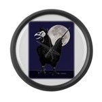 Rooster Ghost Large Wall Clock
