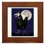 Rooster Ghost Framed Tile