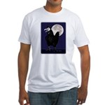 Rooster Ghost Fitted T-Shirt