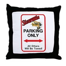 STEARMAN PARKING ONLY Throw Pillow