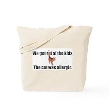 Cat allergy Tote Bag
