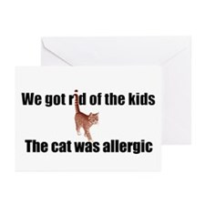 Cat allergy Greeting Cards (Pk of 10)