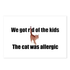 Cat allergy Postcards (Package of 8)