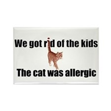 Cat allergy Rectangle Magnet