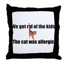 Cat allergy Throw Pillow