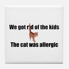 Cat allergy Tile Coaster
