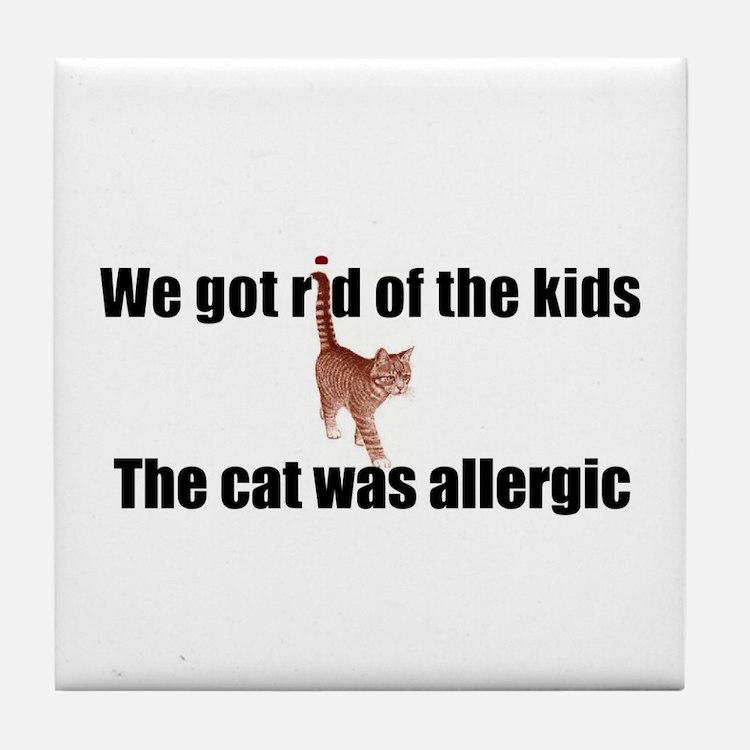 Cat allergy Tile Coaster