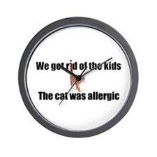 Cat allergy Wall Clock