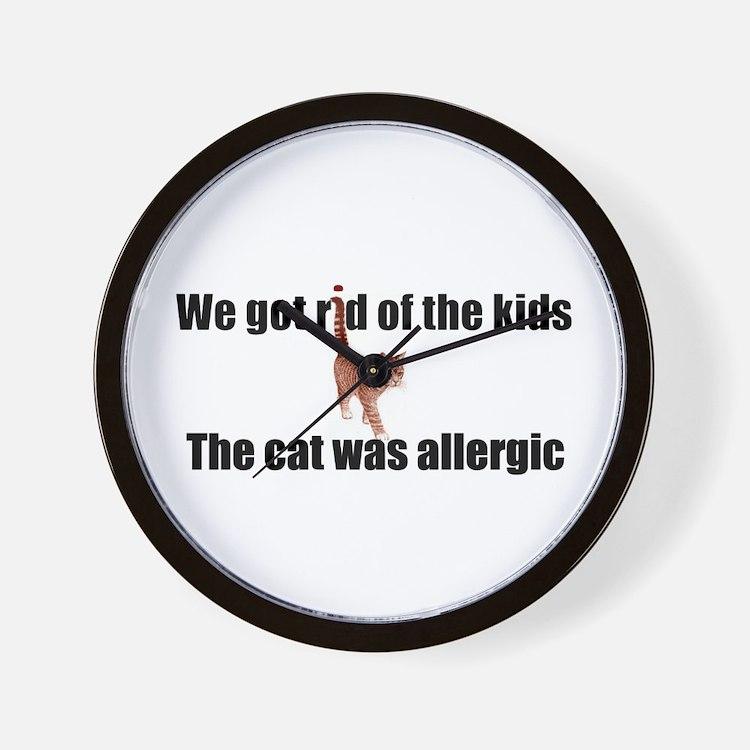Cat allergy Wall Clock
