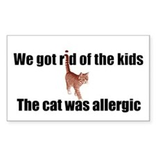 Cat allergy Rectangle Decal