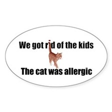 Cat allergy Oval Decal