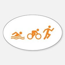 Triathlon - Swim, Bike & Run Decal