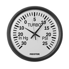 Boost Gauge Large Wall Clock