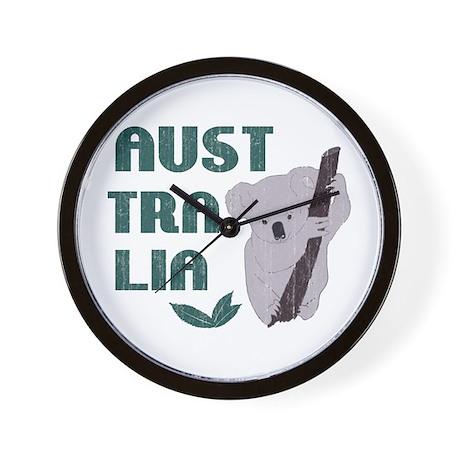 Australia Koala Bear Vintage Wall Clock