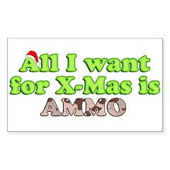 Camo Ammo XMAS Rectangle Sticker 50 pk)
