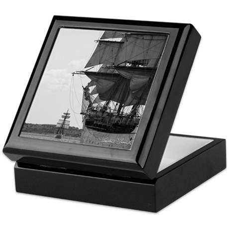 Tall Ship Mahogany Keepsake Box