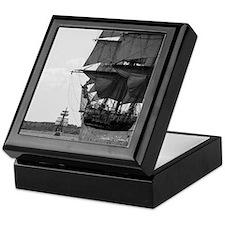 Tall Ship Mahogany Keepsake Box