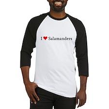 I Love Salamanders Baseball Jersey