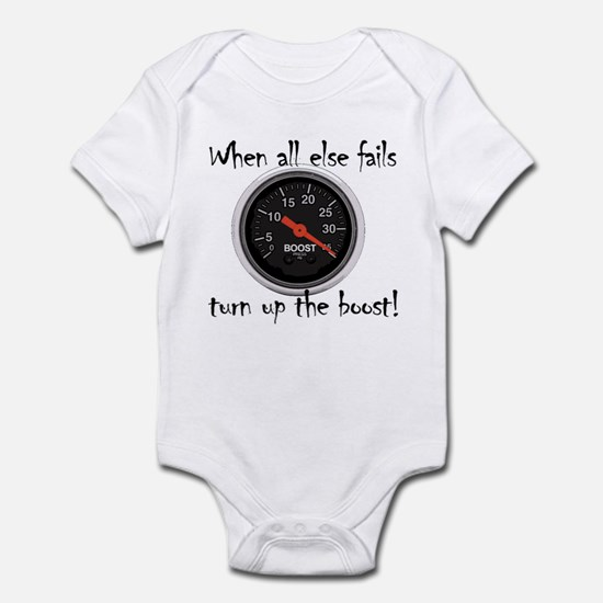 When all else fails, turn up the boost! Infant Bod