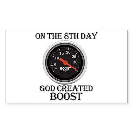 God Created Boost Rectangle Sticker