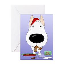 Bull Terrier Santa Greeting Card