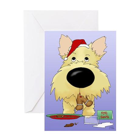 Cairn Terrier Santa Greeting Card