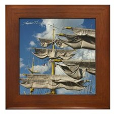 Tall Ship Framed Ceramic Tile