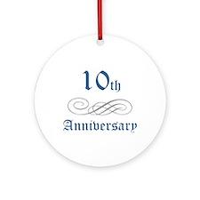 Elegant 10th Anniversary Ornament (Round)