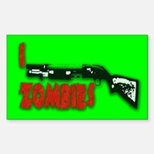 I shotgun zombies! Rectangle Decal