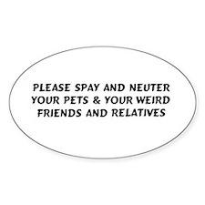 Spay & Neuter Oval Stickers