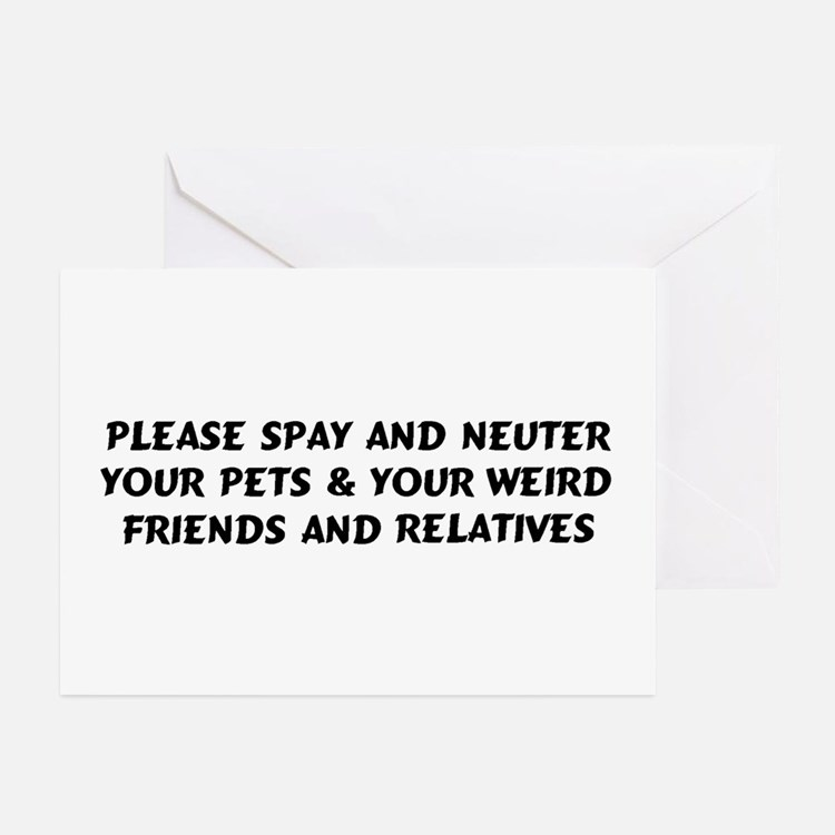 Spay & Neuter Greeting Cards (Pk of 20)
