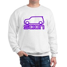 Electric Purple Sweatshirt (White & Gray)
