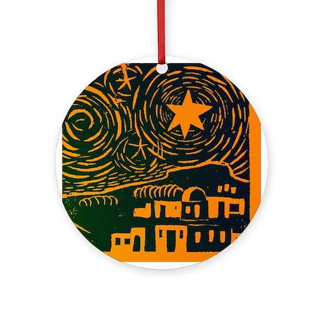 Starry Night Over Bethlehem Ornament (Round)