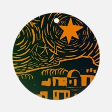 Starry Night Over Bethlehem Ornament (Round)