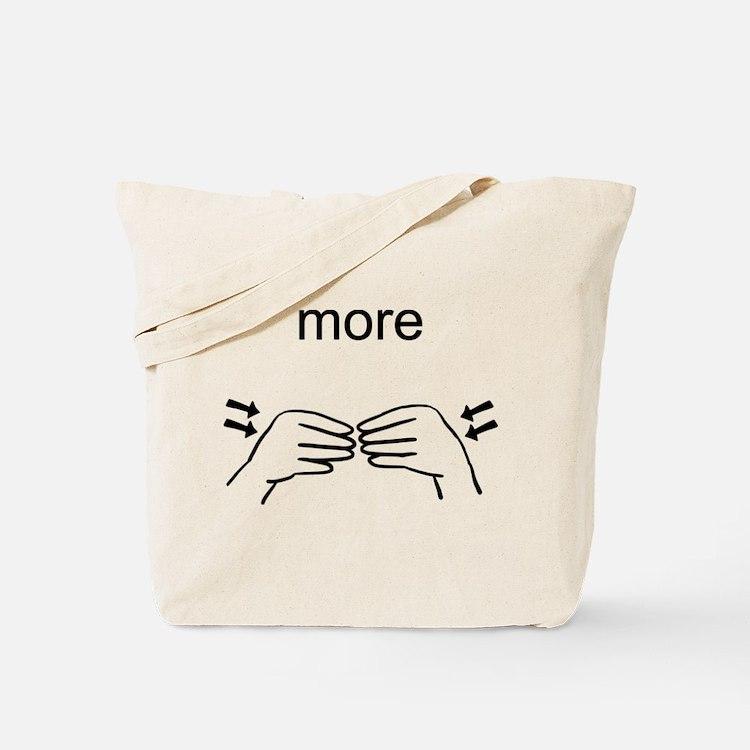 Sign Language More Tote Bag