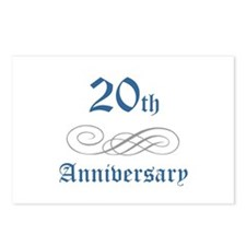 Elegant 20th Anniversary Postcards (Package of 8)