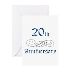 Elegant 20th Anniversary Greeting Card