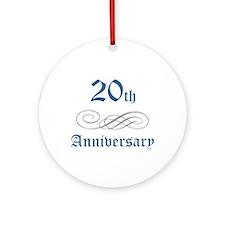 Elegant 20th Anniversary Ornament (Round)