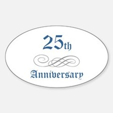 Elegant 25th Anniversary Oval Decal